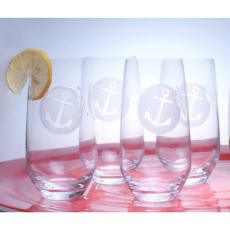 Anchorage Beverage Cooler Glasses set of 4