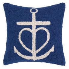 Navy Anchor Hook Pillow