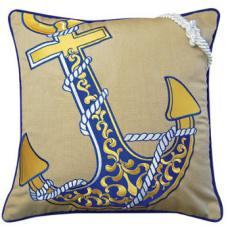 Anchor Embroidered Indoor/Outdoor Pillow