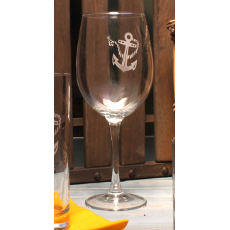 Anchor & Rope Wine Glasses  set of 4