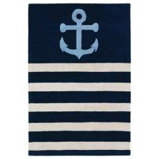 Anchor Rug Blue/Cream