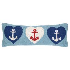 Anchor Hearts Hook Pillow