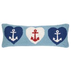 Anchor Hearts Hook Pillow