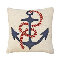 Anchors Away Hook  Pillow