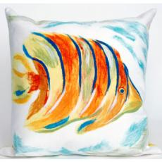 Angel Fish Indoor Outdoor Pillow