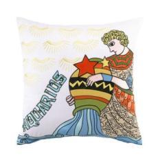 Horoscope Aquarius Embroidered Pillow