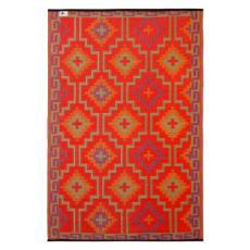 Lhasa - Orange & Violet Indoor- Outdoor Rug