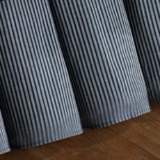 Atlantic Isle Navy Strip Dust Ruffle Bed Skirt