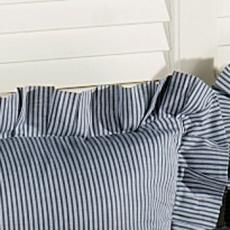 Atlantic Isle Navy Striped Euro Sham