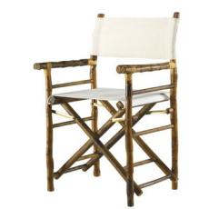 Coastal Bamboo Directors Chair Set of 2