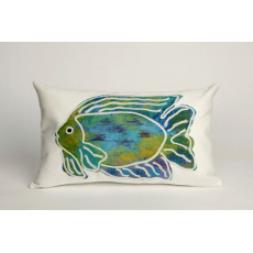 Batik Fish Oblong Indoor Outdoor Pillow
