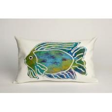Batik Fish Oblong Indoor/ Outdoor Pillow