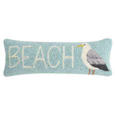 Beach and Sea Gull Lumbar Hook Pillow