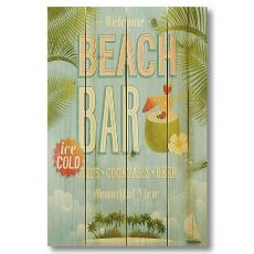 Beach Bar Wood Art