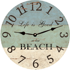 Life Is Good At The Beach Clock