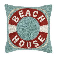 Beach House Life Buoy Hook Pillow