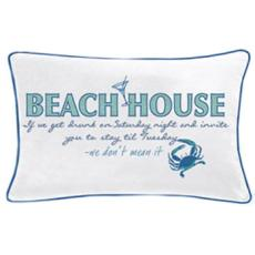 Beach House Saying Pillow