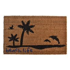 Beach Life Vinyl Back Door Mat