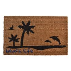 Beach Life Vinyl Back Door Mat