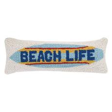 Beach Life Surfboard Hook Pillow