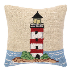Beach Light Tower Hook Pillow
