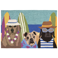 Beach Dog Patrol Dog Indoor Outdoor Rug