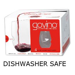 GoVino Red Wine Glasses Dishwasher Safe (Set of 4)