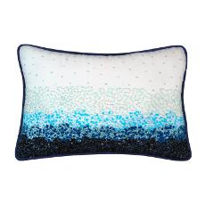Beaded Tranquil Ocean Pillow
