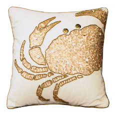Beaded Crabby Glam Pillow