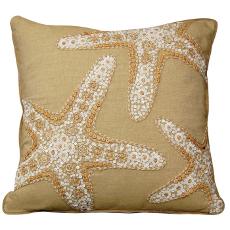 Beaded Starfish Trio Pillow