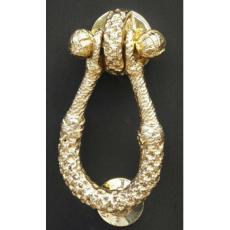 Becket Rope Door Knocker-Brass
