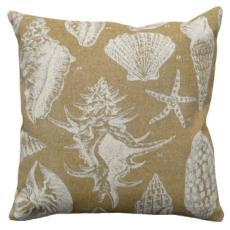 Seashell Beige Linen Pillow