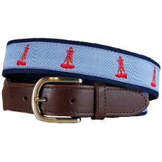 Bell Buoy Leather Tab Belt