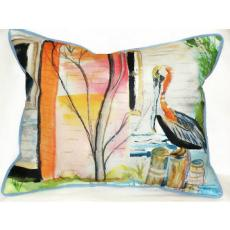 Betsy'S Pelican Indoor Outdoor Pillow