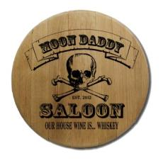 Skull And Cross Bone Barrel Head Sign Personalized