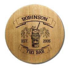 Tiki Bar Barrel Head Sign Personalized
