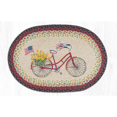 Bicycle with Flag Rug