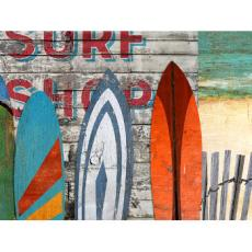 Beach Surfboards Wood Wall Art