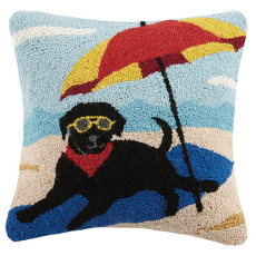 Black Lab Umbrella Hook Pillow