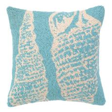 Blue Double Seashell Hook Pillow