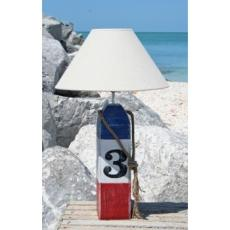 Buoy Table Lamp in Red White and Blue