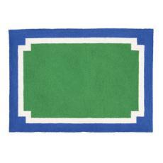 Modern Blue/Green/White Rug
