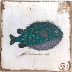 Blowfish Lithograph Art