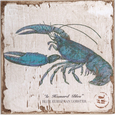 Blue Lobster Lithograph Art