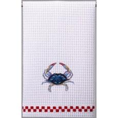 Blue Crab Kitchen Waffle Weave Towel