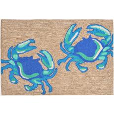 Crabs Blue  Indoor/ Outdoor Rug