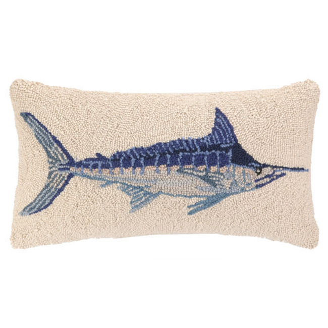 Blue Marlin Hook Pillow