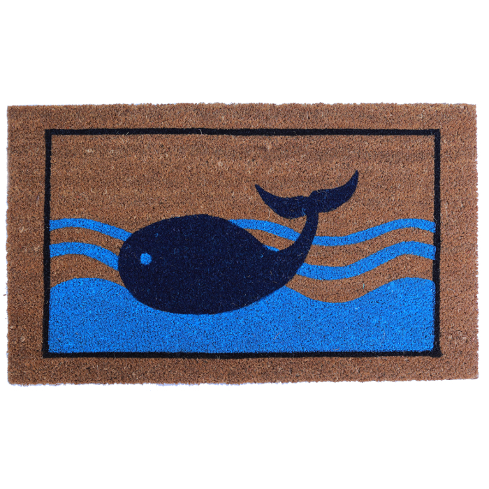 Blue Whale Vinyl Back Door Mat