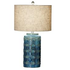 Blue Circle Table Lamp Set of 2