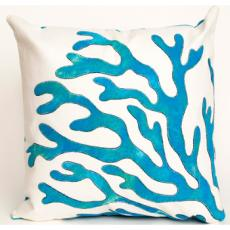 Blue Coral Indoor Outdoor Pillow
